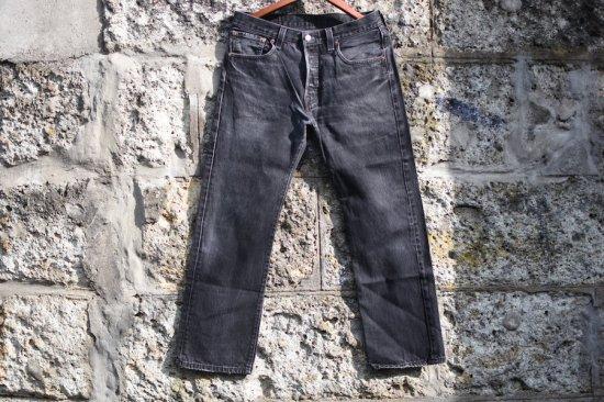 リーバイス ( levi's ) used 501 black denim pants / デニム パンツ type3 w33 l30 - エンシニータス