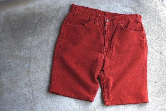 リーバイス ( levi's ) used 70's- 663 corduroy shorts / コーデュロイ ショーツ salmon pink - エンシニータス