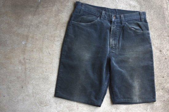 リーバイス ( levi's ) used 90's- 519 corduroy shorts / コーデュロイ ショーツ black - エンシニータス