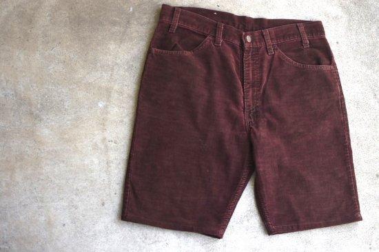 リーバイス ( levi's ) used 519 corduroy shorts / コーデュロイ ショーツ brown - エンシニータス