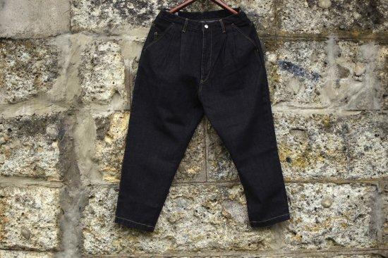 ネガティブデニム ( negative denim ) two tuck tapered jeans / ワイド デニム id - エンシニータス