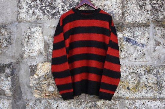 タウンクラフト ( town craft )  70s border sweater / モヘア ニット red × black tc20f02400 - エンシニータス