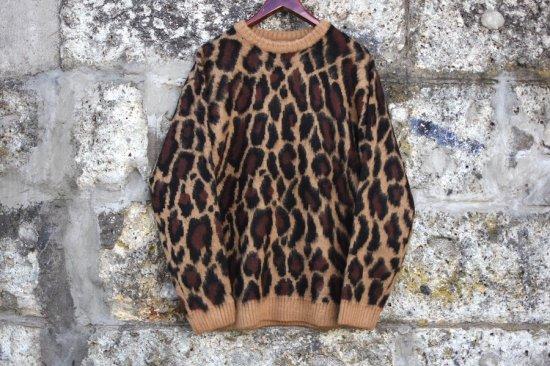 タウンクラフト ( town craft )  70s jacquard crew-neck sweater  /  モヘア ニット brown tc20f02600 - エンシニータス