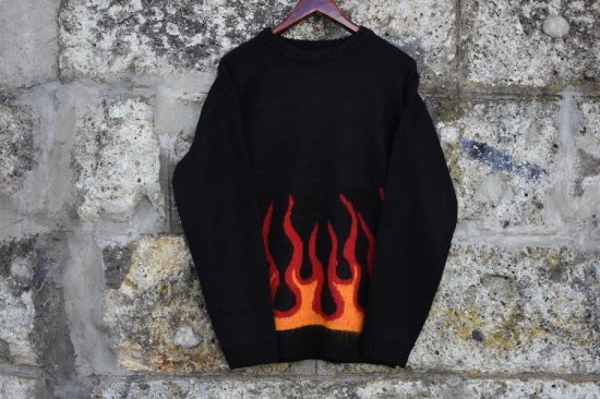 タウンクラフト ( town craft ) 70s jacquard crew-neck sweater  / モヘア ニット black tc20f02600 - エンシニータス