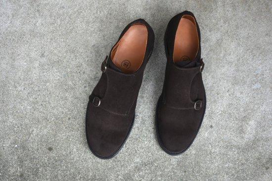 メーカーズ ( makers ) albert / ダブルモンクシューズ スエード 革靴 brown  - エンシニータス