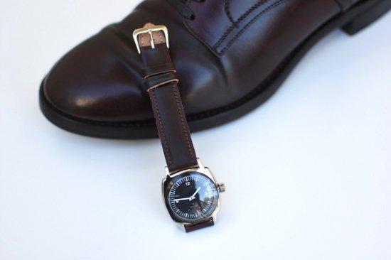 メーカーズ × ヴァーグウォッチ ( makers × vague watch ) fluid / 腕時計 コードヴァン black  × burgundy - エンシニータス