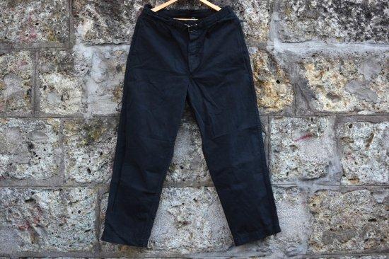 デッドストック (dead stock)  BW  COTTON WORK PANTS BLACK /  ドイツ軍  ワークパンツ 黒染め - エンシニータス