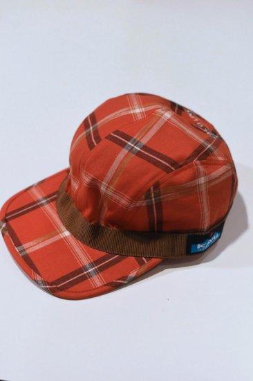 キャルオーライン (cal o line × kavu) madras strap cap  / カブー コラボ マドラスストラップキャップ red CKW-110 - エンシニータス