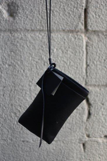 ニール (NL) Nei / ネイ サコッシュ cow leather ショルダーバッグ  black NL21-1-33  - エンシニータス