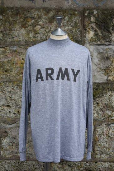 デッドストック (dead stock) PFU ARMY L/S TEE MADE IN USA / アメリカ陸軍 トレーニングモックネックティーシャツ - エンシニータス