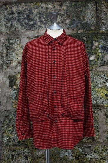 キャルオーライン (cal o line) plaid painter shirt red / ペインター シャツ チェック レッド - エンシニータス