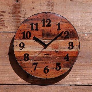 【BRUNO】ブルーノ掛け時計電波ビンテージウッドクロック(ブラウン)