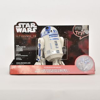 【RHYTHM】STARWARS(スターウォーズ)R2-D2音声アクション目覚まし時計(ホワイト)・8ZDA21BZ03