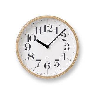【Lemnos】DESIGN OBJECTS 掛け時計 RIKI CLOCK/S(ホワイト)・WR-0401S