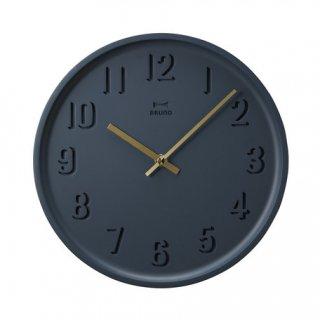 【BRUNO】ブルーノ掛け時計 ラウンドソリッドウォールクロック(ネイビー)BCW027-NV