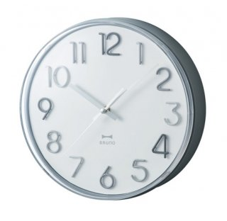 <img class='new_mark_img1' src='https://img.shop-pro.jp/img/new/icons1.gif' style='border:none;display:inline;margin:0px;padding:0px;width:auto;' />【BRUNO】ブルーノ 掛け時計 ラウンドトーンウォールクロック (モノクロ)BCW031-MONO