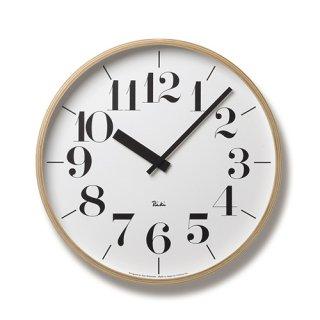 【Lemnos】DESIGN OBJECTS 掛け時計 RIKI CLOCK(ホワイト・LLサイズ)・WR-0401L