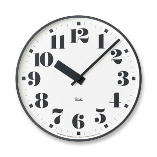 【Lemnos】DESIGN OBJECTS 掛け時計 RIKI PUBLIC CLOCK(ナンバー)・WR17-06