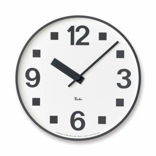 【Lemnos】DESIGN OBJECTS 掛け時計 RIKI PUBLIC CLOCK(シンプル)・WR17-07