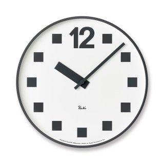 【Lemnos】DESIGN OBJECTS 掛け時計 RIKI PUBLIC CLOCK(記号)・WR17-08