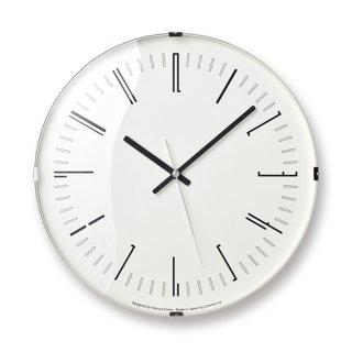 【Lemnos】 CASA 掛け時計 Draw wall clock[電波時計](ブラック)・KK18-12-BK