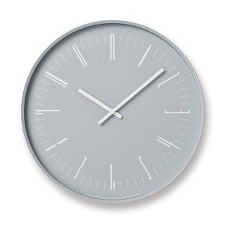 【Lemnos】 CASA 掛け時計 Draw wall clock(グレー)・KK18-13-GY