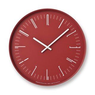 【Lemnos】 CASA 掛け時計 Draw wall clock(レッド)・KK18-13-RE