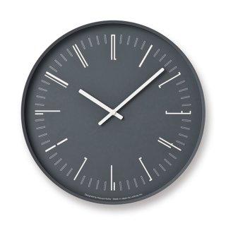 【Lemnos】 CASA 掛け時計 Draw wall clock(ブラック)・KK18-13-BK