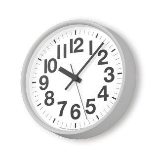【Lemnos】DESIGN OBJECTS 掛け時計 ナンバーの時計[電波時計](グレー)・YK18-10-GY