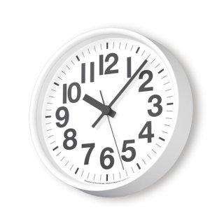 【Lemnos】DESIGN OBJECTS 掛け時計 ナンバーの時計[電波時計](ホワイト)・YK18-10-WH