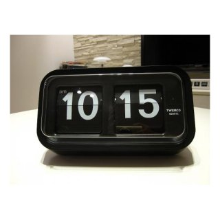 【TWEMCO】置時計 BQ-58(ブラック)・TW6043