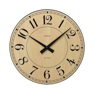 【IN HOUSE】掛け時計 STATION ウォールクロック 40cm(ビーチウッド)・NW6CK