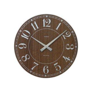 【IN HOUSE】掛け時計 STATION ウォールクロック 29cm(ウォルナット)・NW8WK