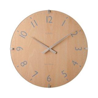 【IN HOUSE】掛け時計 ドームクロック 40cm(ビーチウッド)・NW30CK