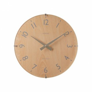 【IN HOUSE】掛け時計 ドームクロック 29cm(ビーチウッド)・NW31CK