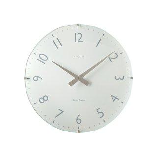 【IN HOUSE】掛け時計 ドームクロック 29cm(ホワイト)・NW31WA