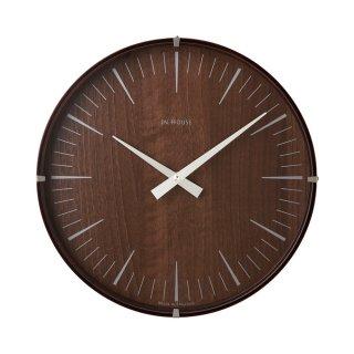 【IN HOUSE】掛け時計 ラミネート・ウォールクロック 30cm(ウォルナット)・NW19WE