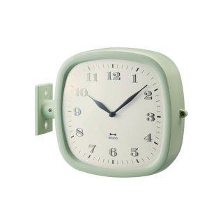 【BRUNO】ブルーノ 掛け時計 ツーフェイスフレンチレトロクロック (グリーン)・BCW030-GR