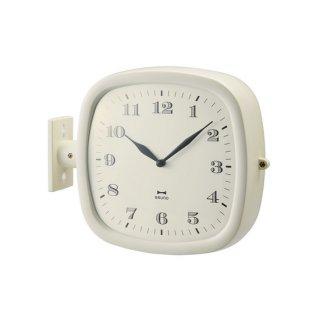 【BRUNO】ブルーノ 掛け時計 ツーフェイスフレンチレトロクロック (アイボリー)・BCW030-IV