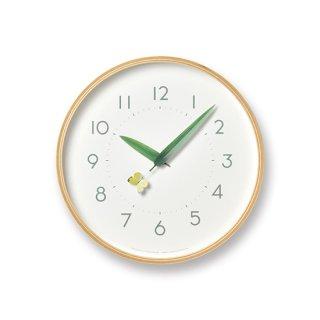 【Lemnos】Plain 掛け時計 とまり木の時計(モンキチョウ)・SUR18-16-MONKI