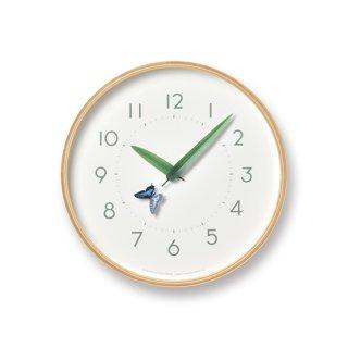 【Lemnos】Plain 掛け時計 とまり木の時計(アゲハ蝶)・SUR18-16-AGEHA