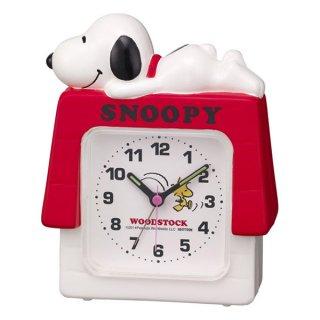 【CHARACTERCLOCK】置き時計 キャラクタークロック スヌーピーR551(白)・4SE551MS03