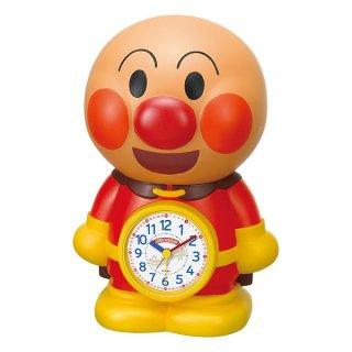 【CHARACTERCLOCK】置き時計 目覚まし時計 キャラクタークロック アンパンマン (茶色(白))・4SE552-M06