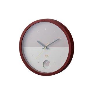 【BRUNO】ブルーノ 掛け時計 バイカラーウォールクロック (レッド)・BCW035-RD