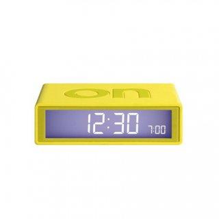 【LEXON】レクソン 置き時計 LEXON アラームクロックFLIP(イエロー)・LR130B6-YE