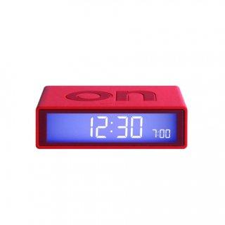 【LEXON】レクソン 置き時計 LEXON アラームクロックFLIP(レッド)・LR130B6-RD