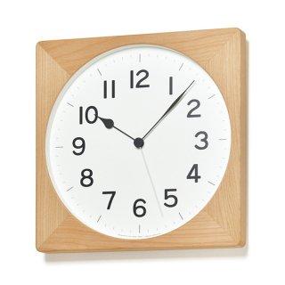【Lemnos】CASA 掛け時計  ROOT 電波時計(ナチュラル)・NY18-07NT