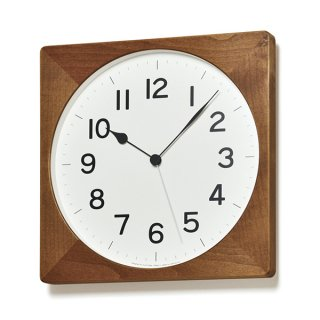 【Lemnos】CASA 掛け時計  ROOT 電波時計(ナチュラル)・NY18-07BW