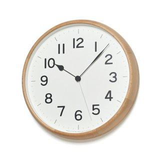 【Lemnos】CASA 掛け時計  ROOT 電波時計【丸型】(ナチュラル)・NY18-06NT