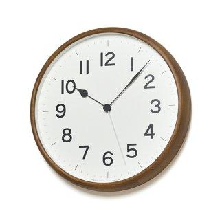 【Lemnos】CASA 掛け時計  ROOT 電波時計【丸型】(ブラウン)・NY18-06BW